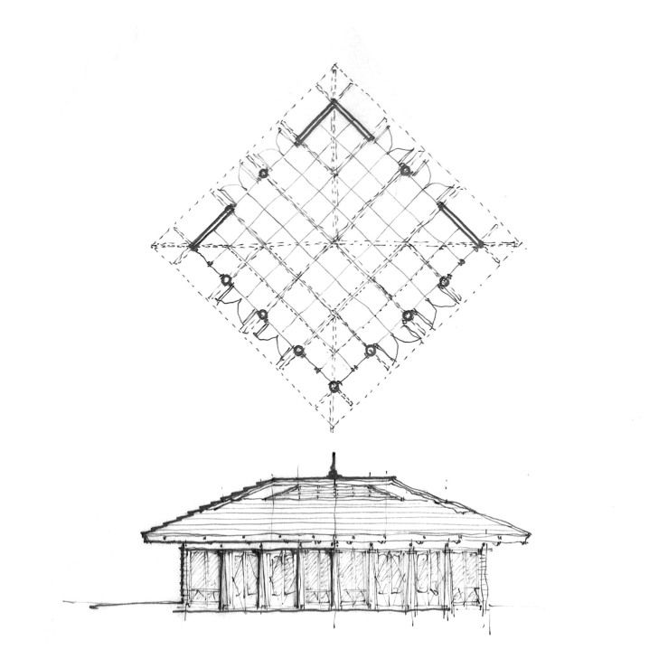 A Dutch Gable Folly Ceiling Plan Post And Beam Dutch Gable Roof