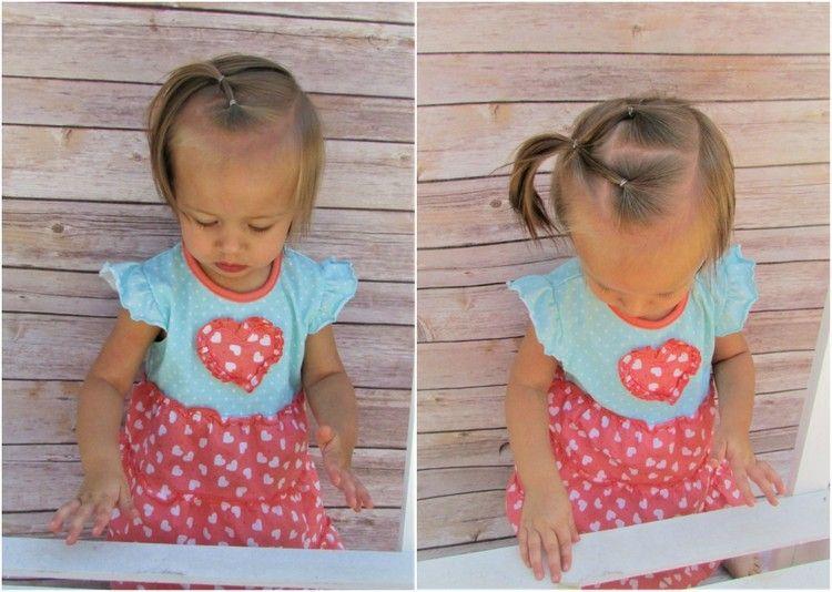 Niedliche Frisur Kleinkind Madchen Haargummis Kleinkind Frisuren Madchen Frisur Kinder Madchen Frisuren Fur Kleine Madchen