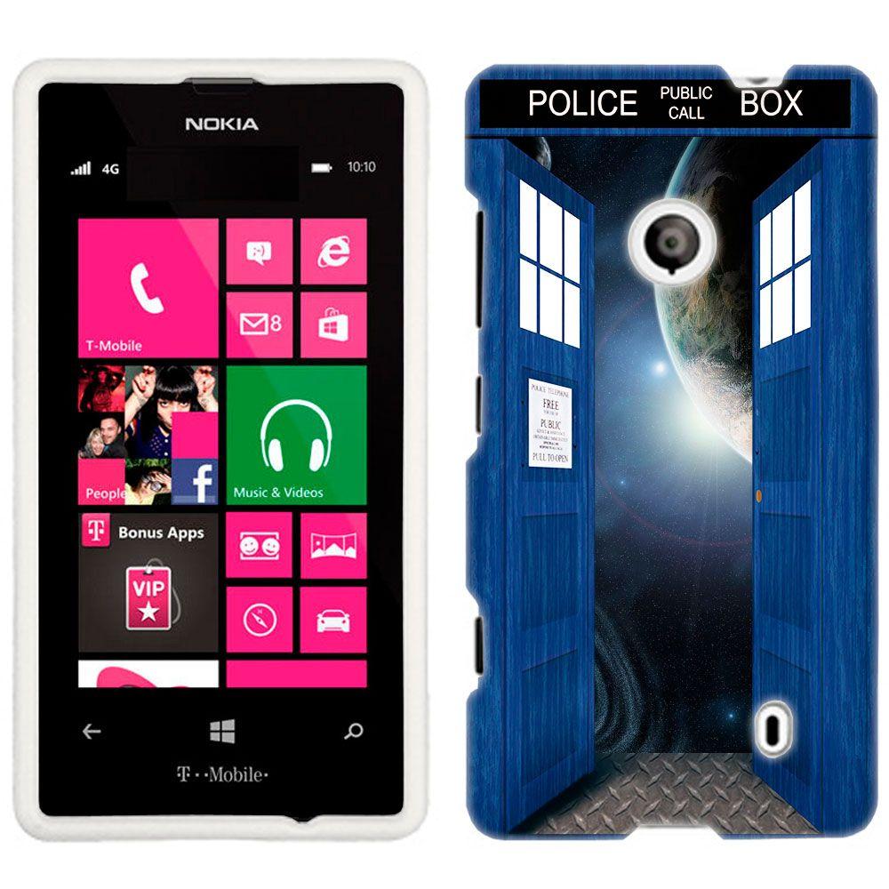 Nokia Lumia 521 British Blue Police Box Open Doors to Space Phone