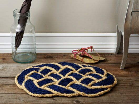 Blue Twisted Rope Mat.