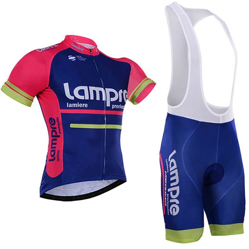 2016 pro team lampre merida pink blue summer mens Cycling jerseys  breathable bike clothing MTB Ropa 52bb9f677
