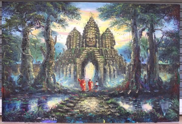 Pin On Cambodian Oil Painting