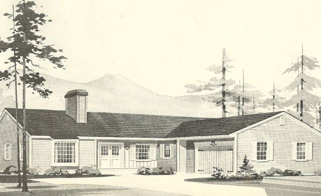 Vintage House Plans 1960s L Shaped And T Shaped Homes Vintage House Plans Vintage House Modern Farmhouse Plans