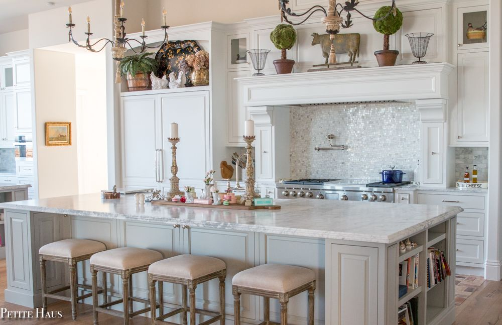 Gray Blue French Country Kitchen Novocom Top
