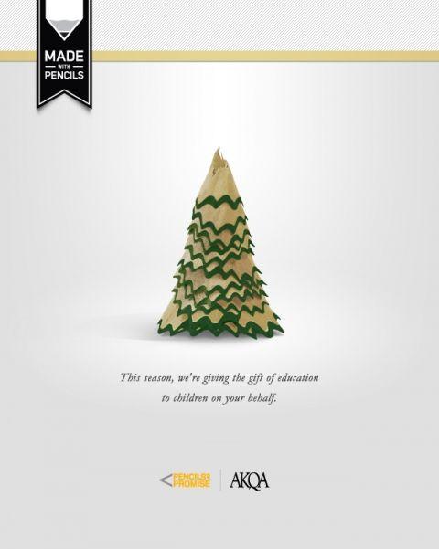 Akqa Made With Pencils Christmas Advertising Christmas Poster Design Business Christmas Cards