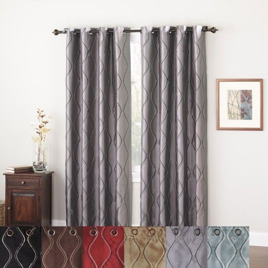 Brielle Lined Grommet Panel From Anna's Linens Via Tuscan