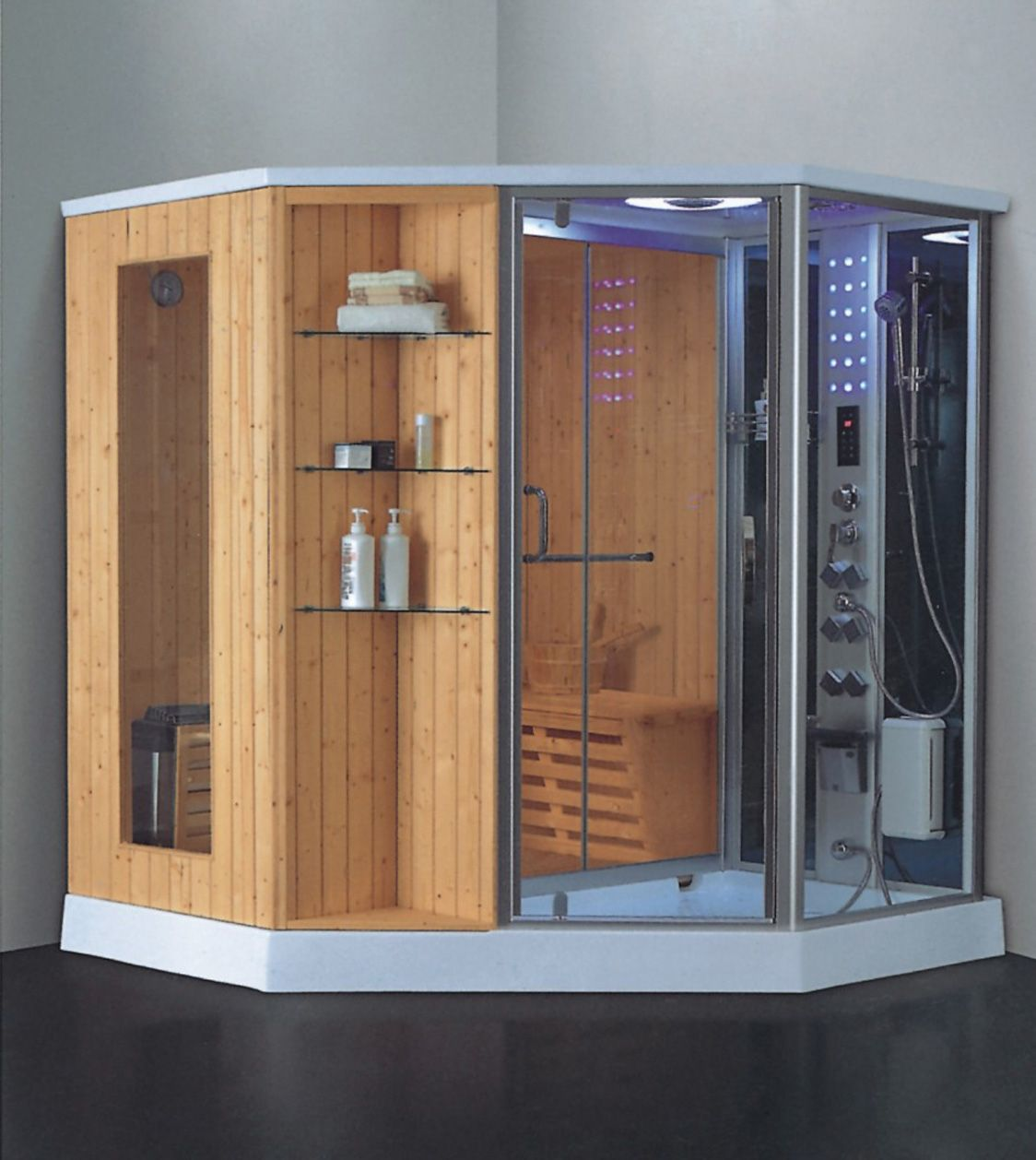 image result for steam shower sauna combo | bathroom in 2018