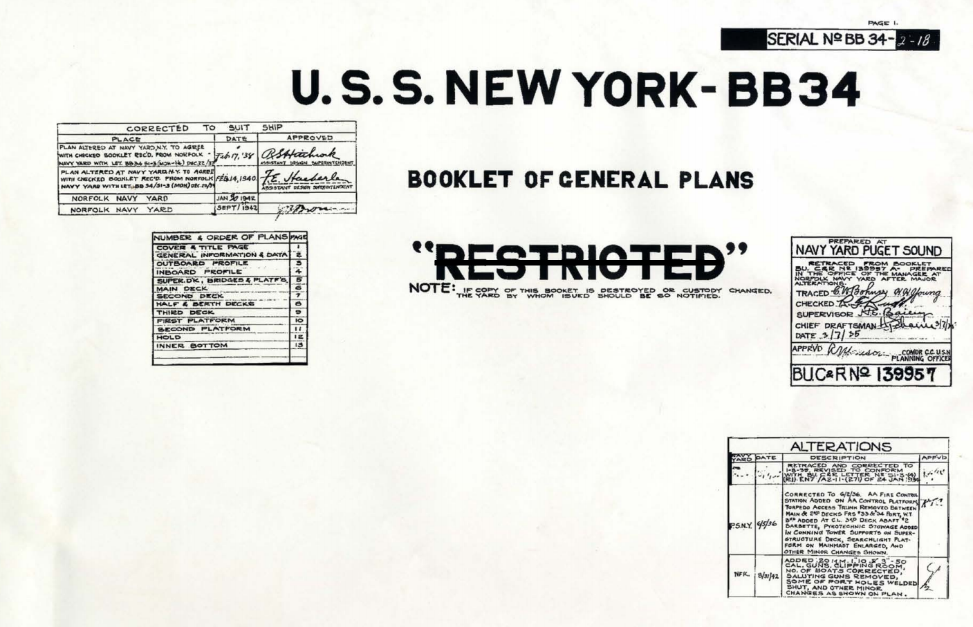 Uss new york bb34 booklet of general plans plans drawings blueprints uss new york bb34 booklet of general plans plans drawings blueprints httpmaritime malvernweather Image collections