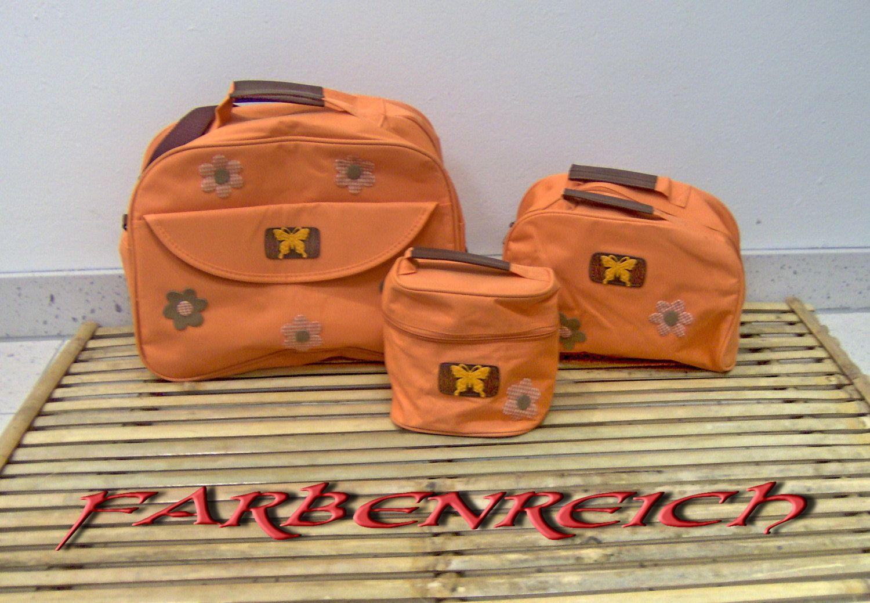 """3 tlg. Taschenset : """"Orange Garden"""" von FARBENREICH auf Etsy"""