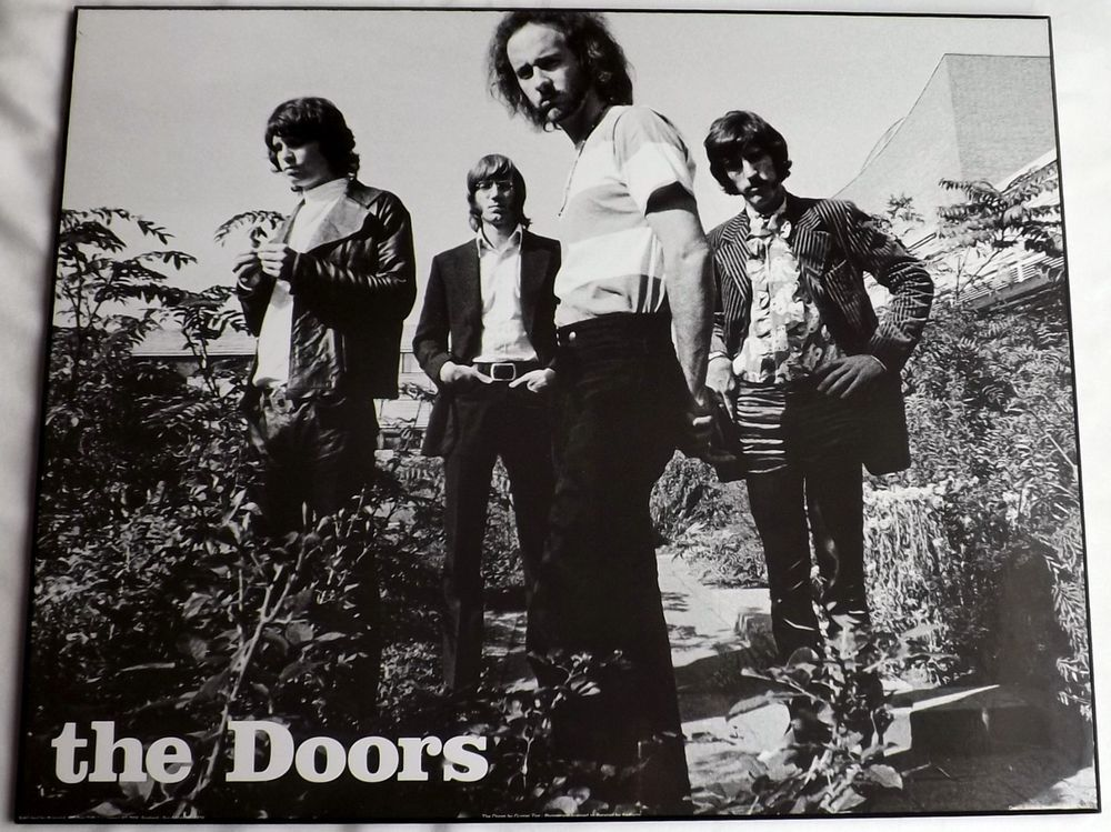 Poster the doors group vtg 1960s photo black and white mounted pyramid posters