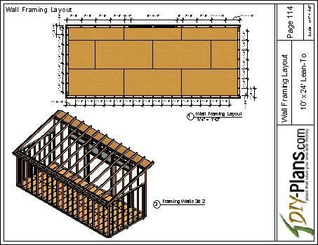 10x24 Modern Shed Plan Layout Shed Plans Modern Shed Shed Design