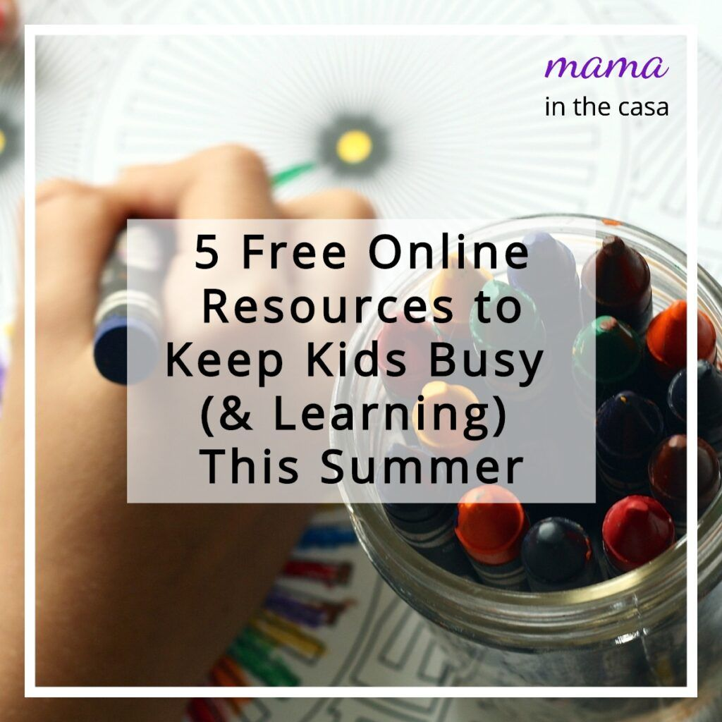 5 Free Online Resources To Keep Kids Busy Amp Learning