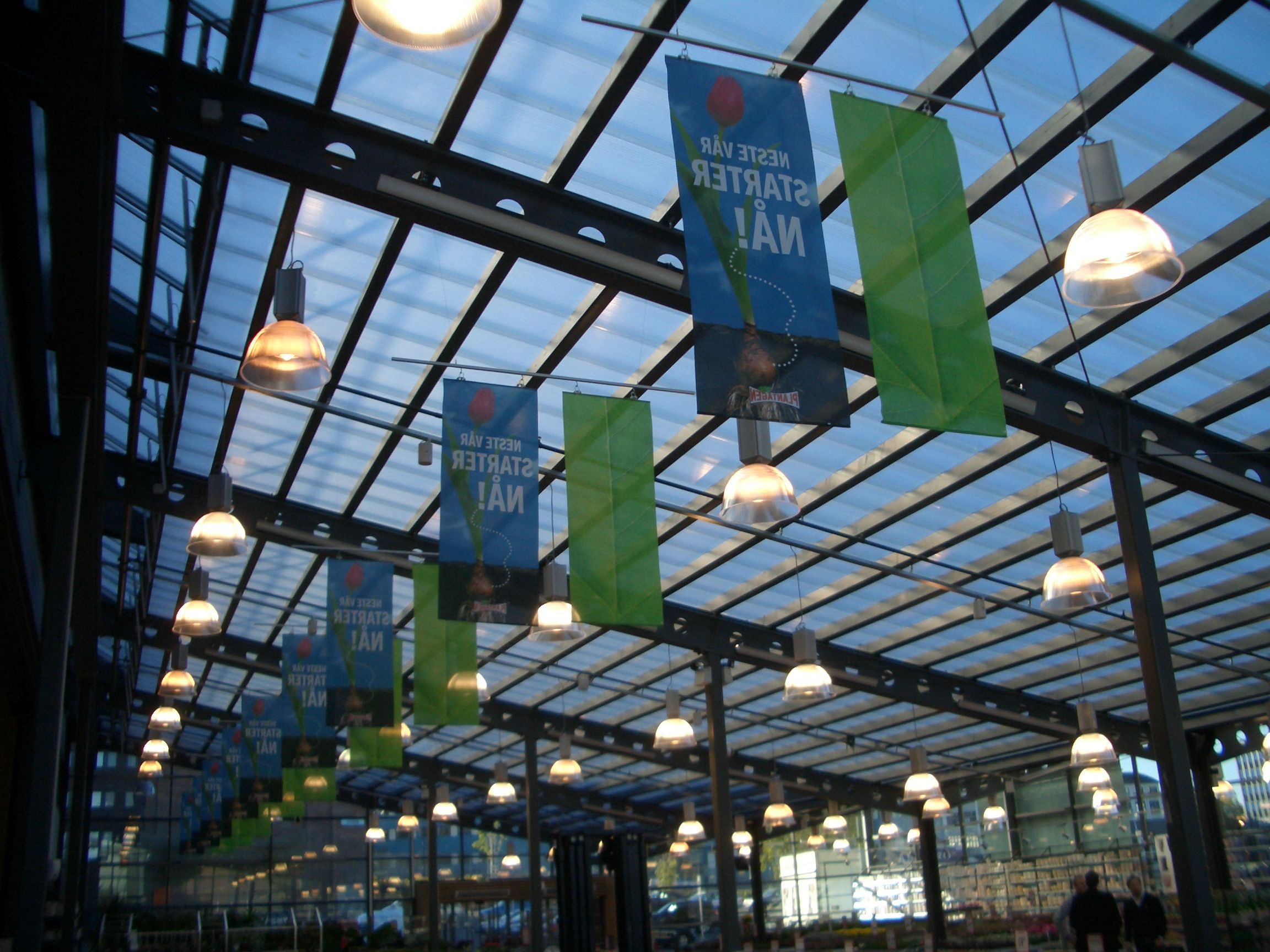 Shopping Mall Roof In Oslo With Polycarbonate U Shape Panels By Rodeca Gmbh