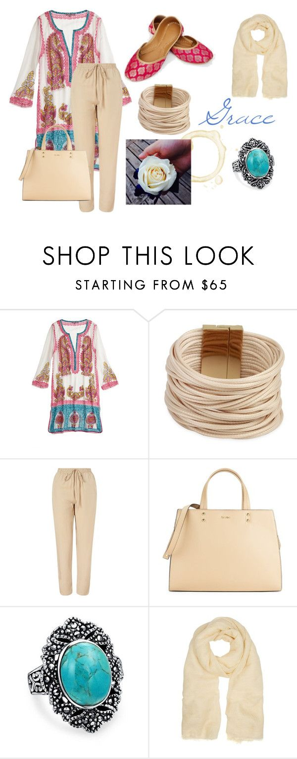 """""""Grace"""" by nsrogsy3 ❤ liked on Polyvore featuring Calypso St. Barth, Saachi, SELECTED, Calvin Klein, Bling Jewelry and Isabel Marant"""