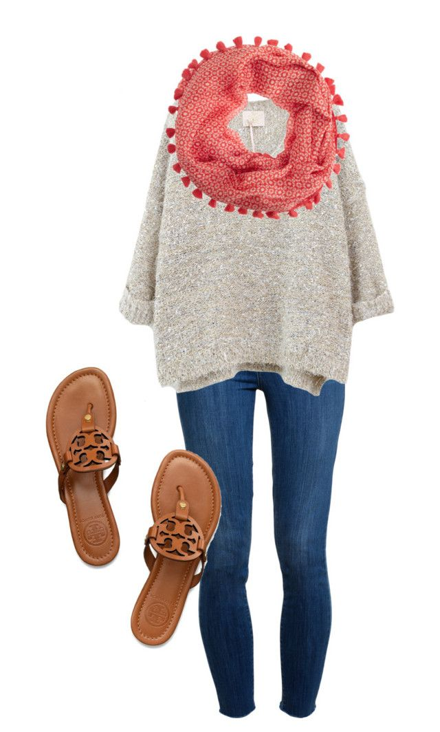 """""""COOL GIRL"""" by toopreptofunction ❤ liked on Polyvore featuring Paige Denim, J.Crew and Tory Burch"""