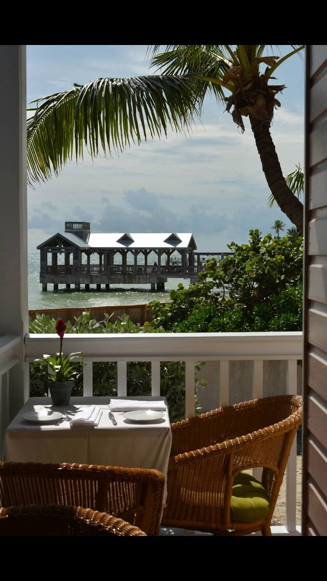 Our table at Louie's Backyard | Key West | Key west ...