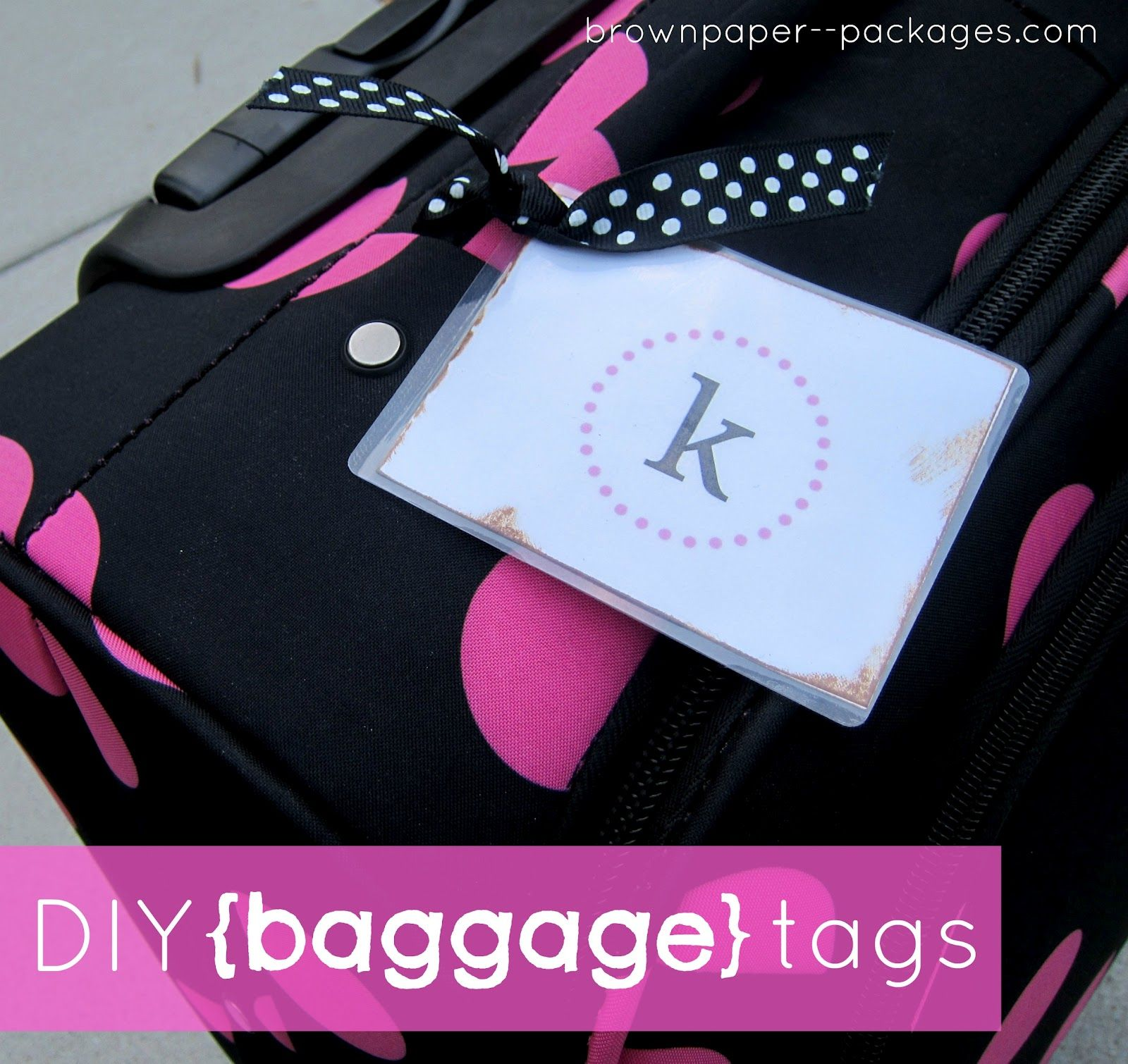 It's summer! Our family has some big trips coming up in the next few months, and I wanted to create some fun and easy baggage tags for all ...