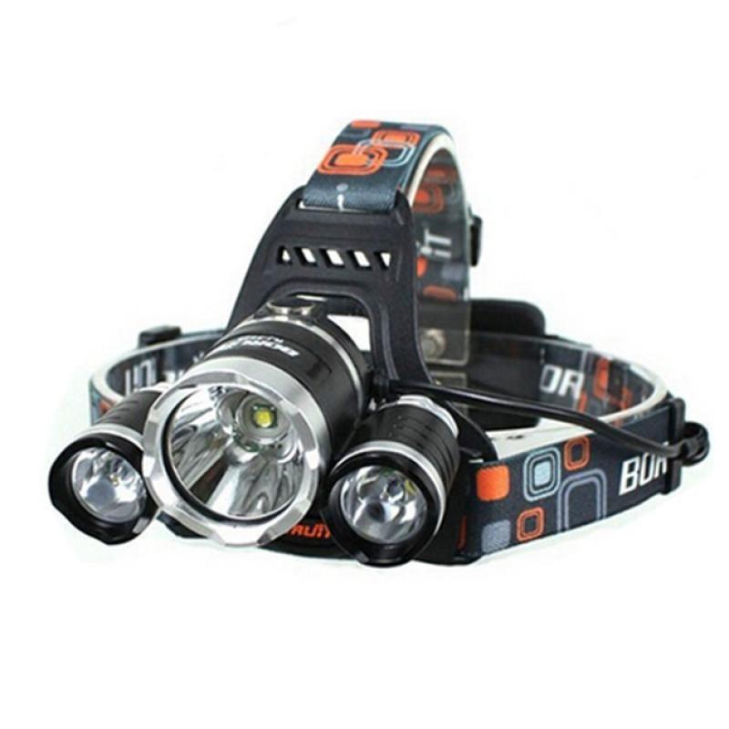 3*T6 3500LM 4 Modes Single LED Headlamp Black