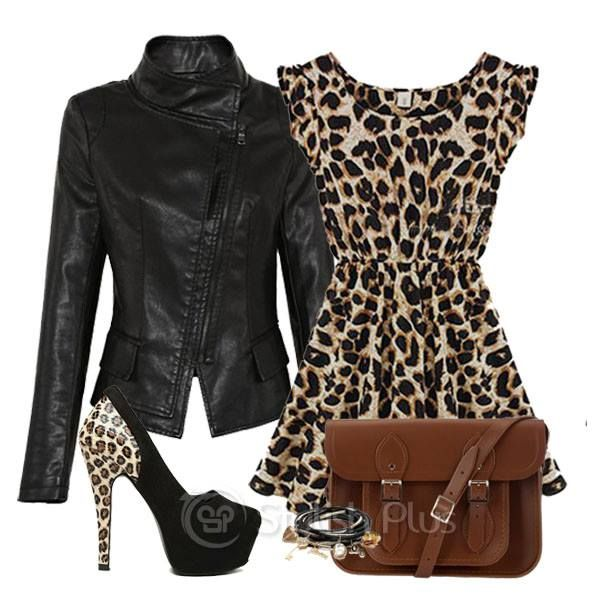 leopard & leather