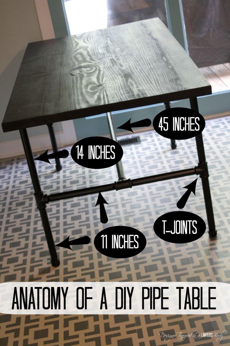 DIY Pipe Industrial Table full tutorial by Designer