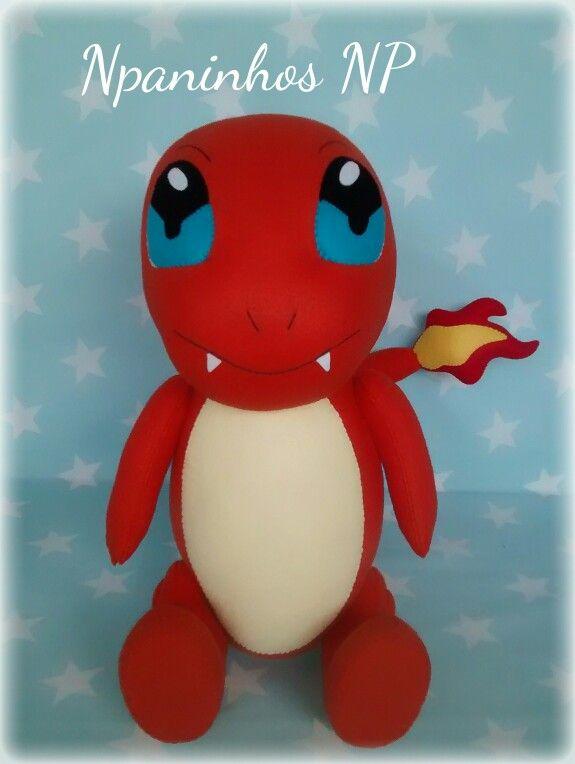 Pokemon Charmander em Feltro.   crafts   Pinterest   Pokémon ...