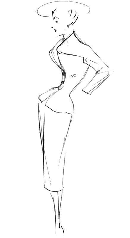 La Femme De LAvenue Montaigne Vue Par Dior  Dessin Technique