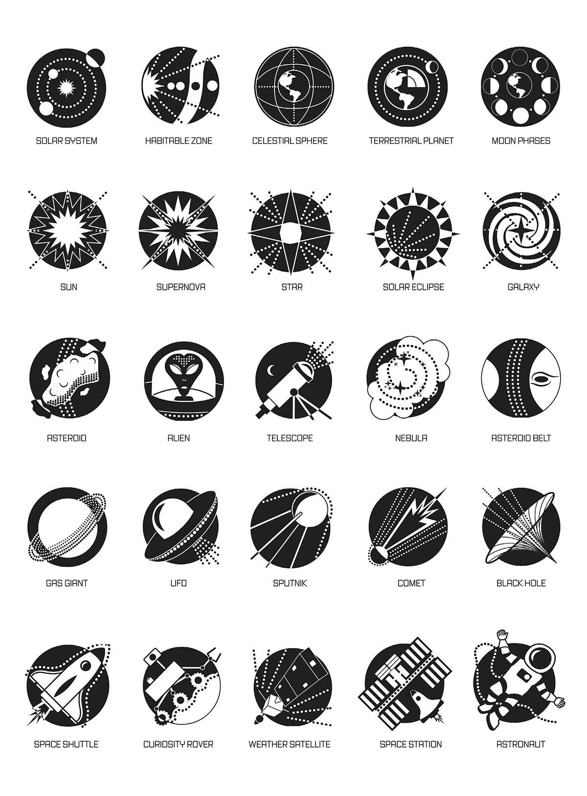 Image Result For Space Symbols Graphic Design Student Behance Kayla
