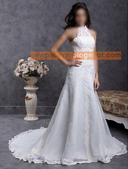 باترون مفصل لفستان زفاف Sew Pattern Wedding Dresses A Line