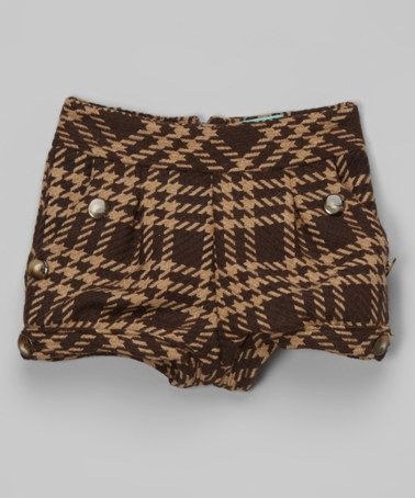 Look what I found on #zulily! Brown Plaid Wool Bubble Shorts - Toddler & Girls #zulilyfinds