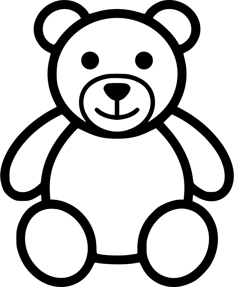 Found On Bing From Www Onlinewebfonts Com Teddy Bear Outline Teddy Bear Drawing Easy Teddy Bear Sketch