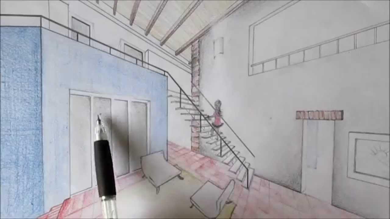Perspectiva De Dos Puntos De Fuga De Interiores Punto De Fuga Como Dibujar En Perspectiva Dibujo Con Perspectiva