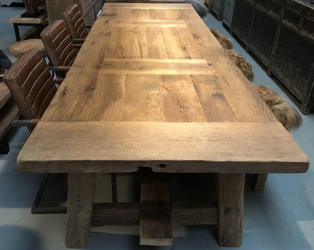 Grote Landelijke Eettafel.Grote Houten Eettafel Eetkamertafel Antieke Tafels