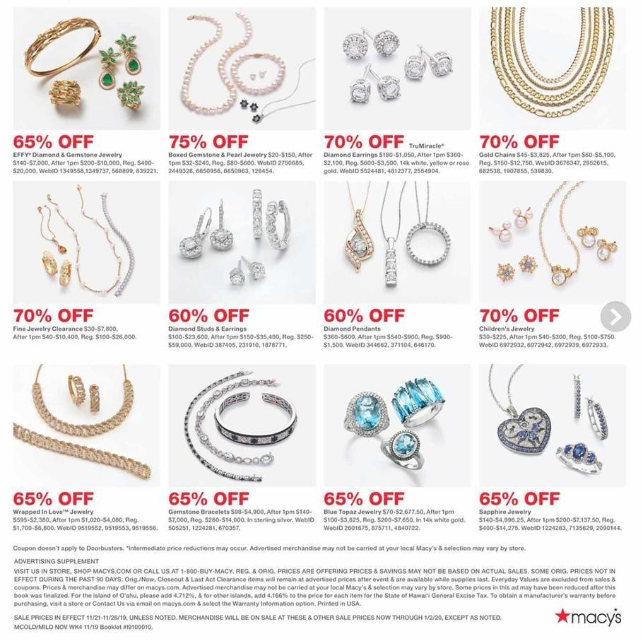 33++ Macys jewelry black friday sale info