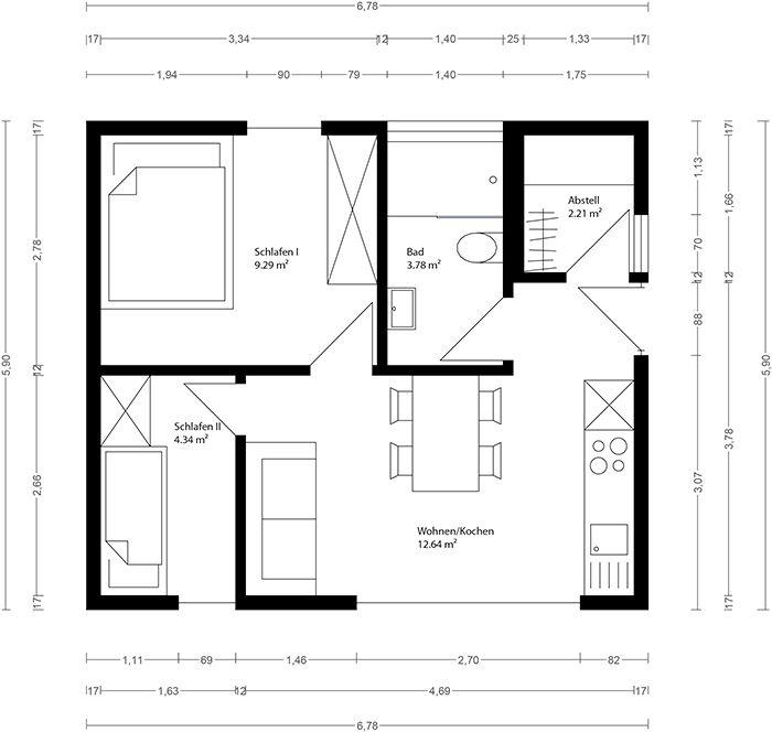 neues wohnen im cubig designhaus minihaus pfmtech1. Black Bedroom Furniture Sets. Home Design Ideas