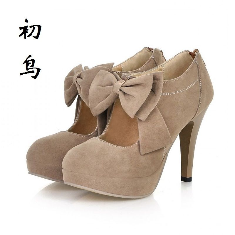 2017 Size 31-43 Fashion Butterfly-knot Sexy High Heels Women Pumps Ladies Leisure Shoes Woman Chaussure Femme Talon Mariage