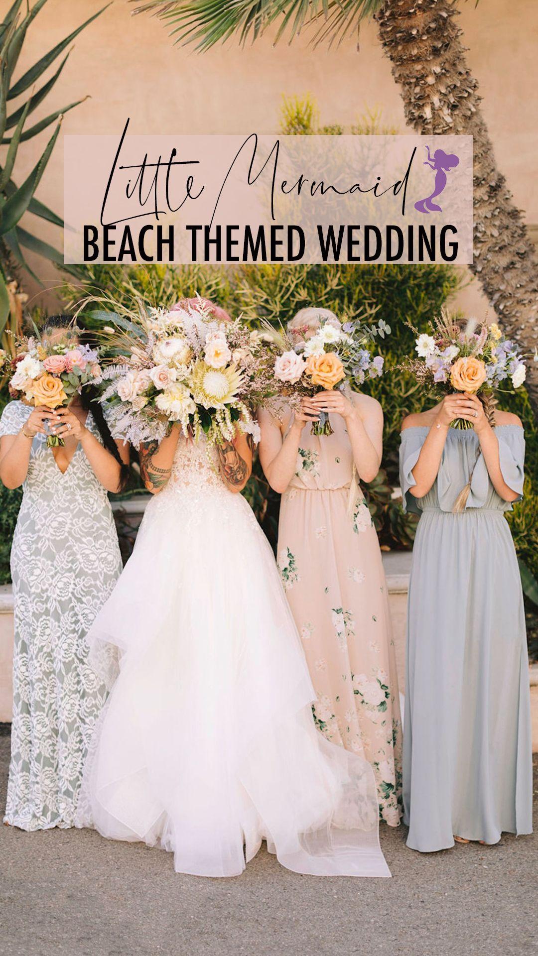 Little Mermaid Beach Themed Wedding Ariel Wedding Theme Little Mermaid Wedding Beach Theme Wedding [ 1920 x 1080 Pixel ]