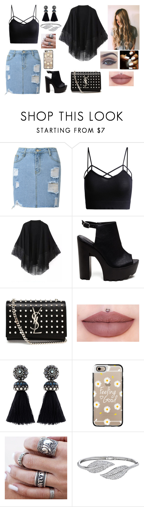 """disco"" by isarai on Polyvore featuring moda, Relaxfeel, Yves Saint Laurent, Lanvin, Casetify y Penny Preville"