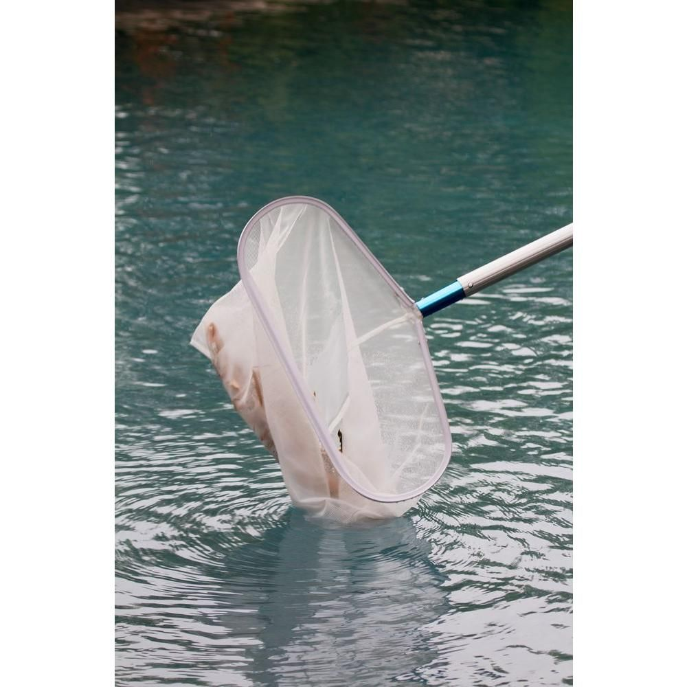 Hdx Heavy Duty Aluminum Leaf Rake For Swimming Pools And Spas 61298 The Home Depot Swimming Pools Pool Skimmer Pool Poles