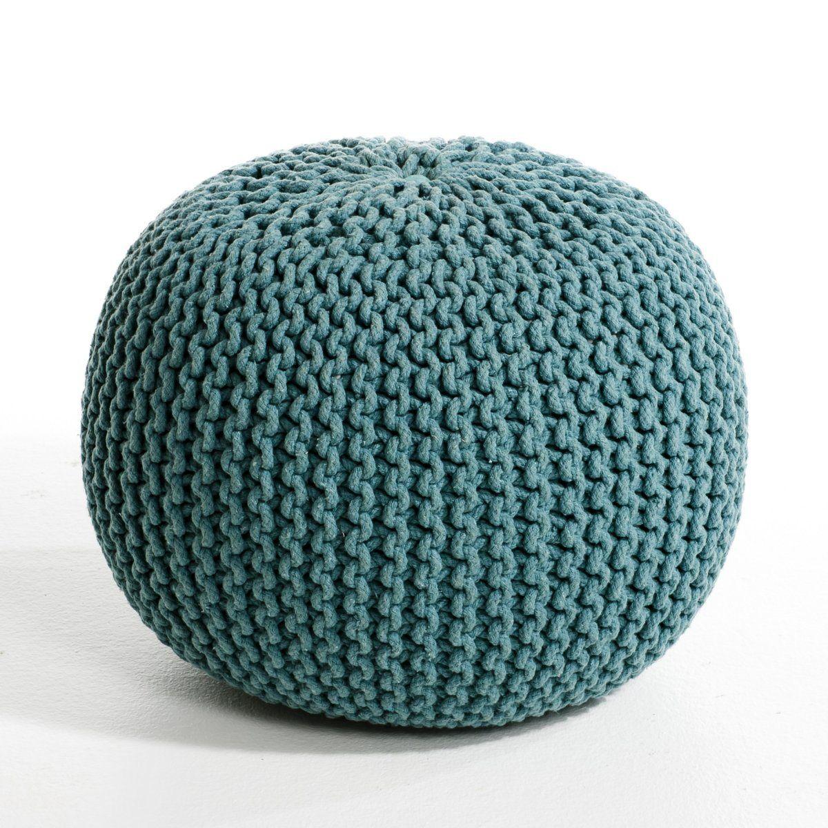 pouf rond tress autre gris bleu canard blanc cru 59 49 ampm salon pinterest pouf. Black Bedroom Furniture Sets. Home Design Ideas
