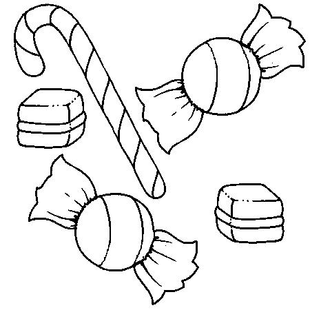 Coloriage Gateau Bonbon.Dessin Bonbon A Colorier Theme Sur La Gourmandise Bonbons