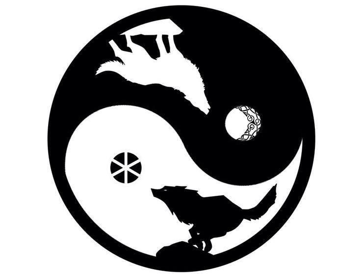 Hati Und Skalli Cat Pinterest Tattoo Wolf And Yin Yang