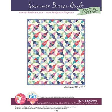 Summer Breeze Downloadable PDF Quilt Pattern<BR>It's Sew Emma ... : emma quilt pattern - Adamdwight.com