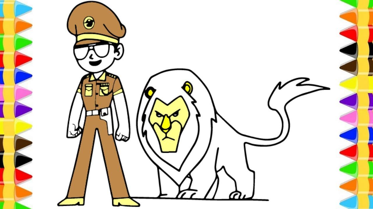 How To Draw Little Singham Animation Cartoon | Little ...