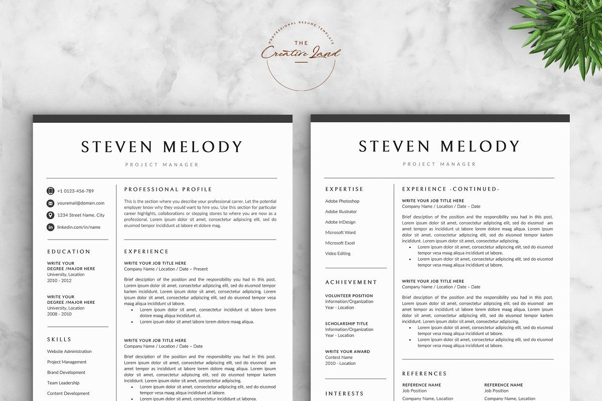 Resume/CV The Melody Unique resume template, Resume cv
