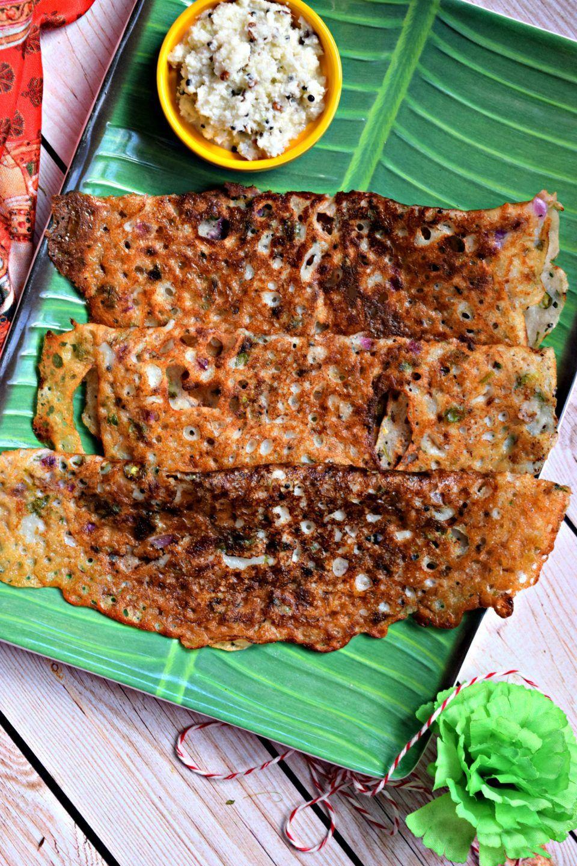 Onion Rava Dosa: Indian Pancake Crepe Recipe - SoF