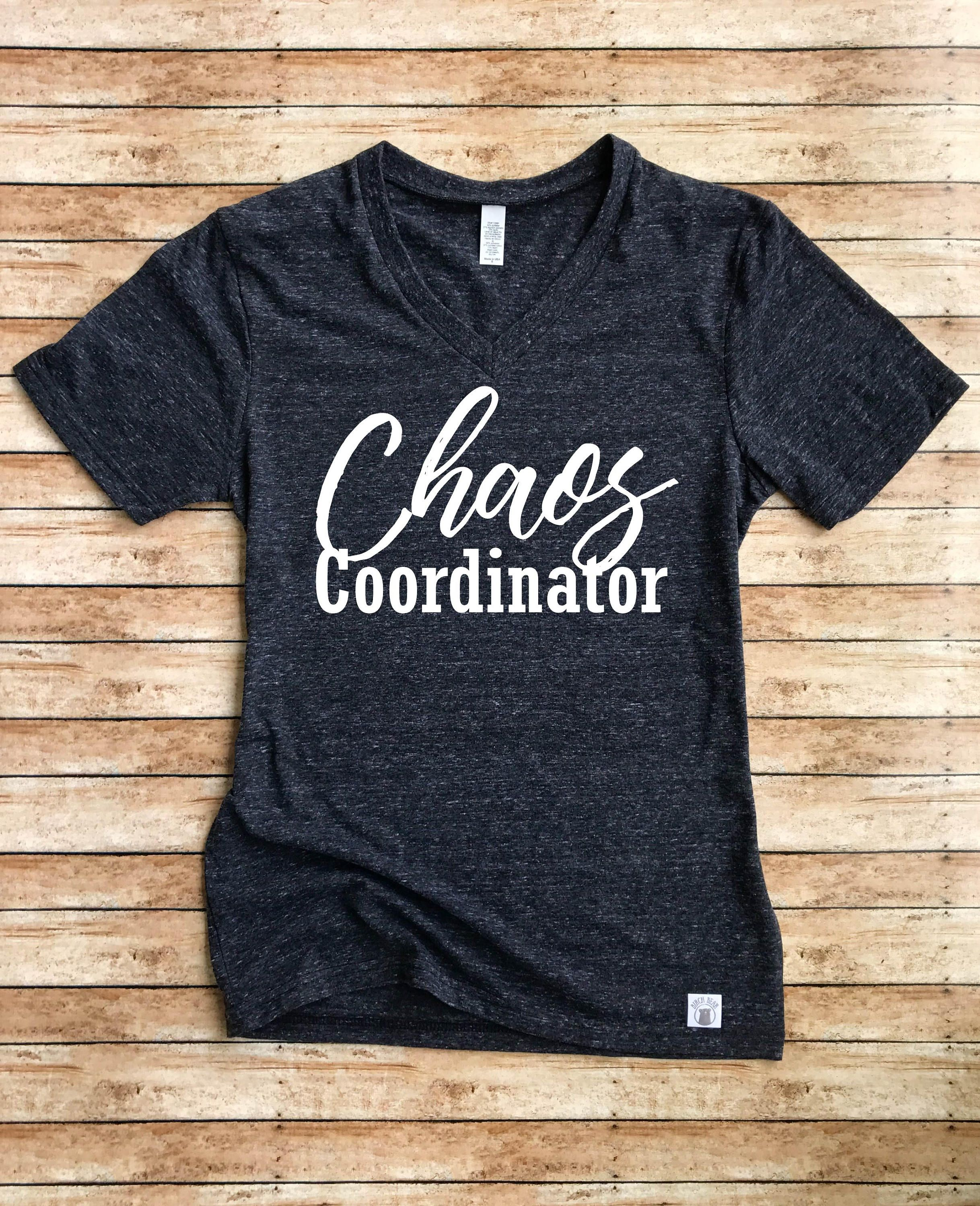 Unisex Tri-Blend V-Neck T-Shirt Chaos Coordinator - Funny Mom ...