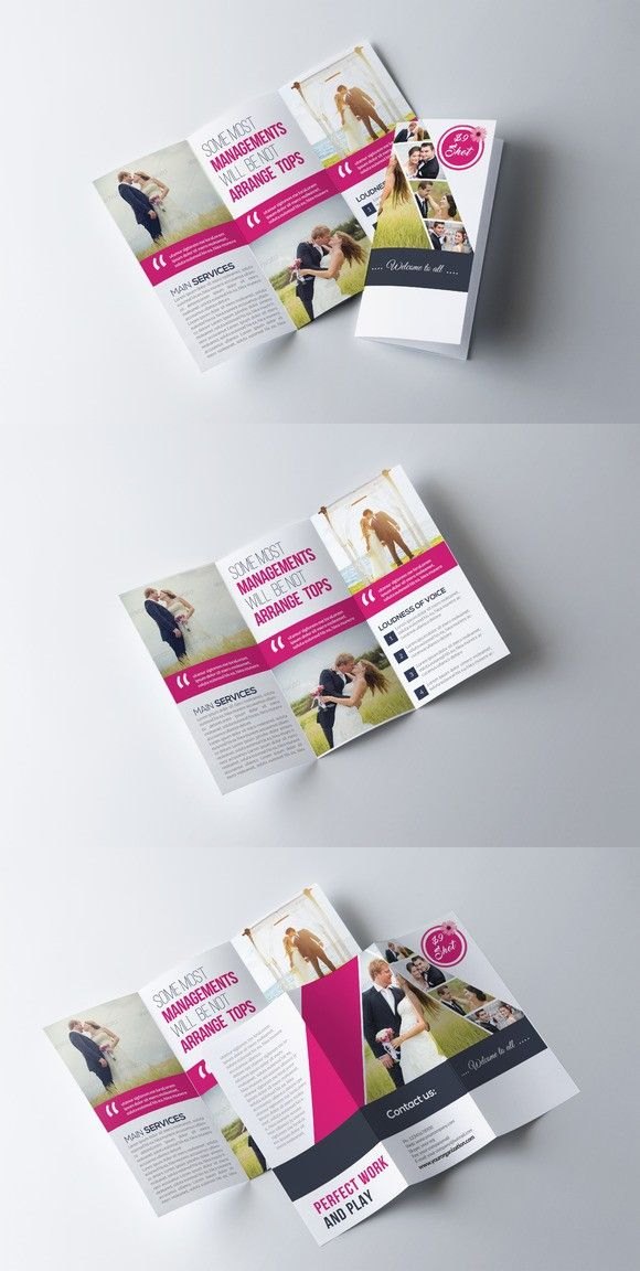 Wedding Program Trifold Brochure Brochure Templates Pinterest