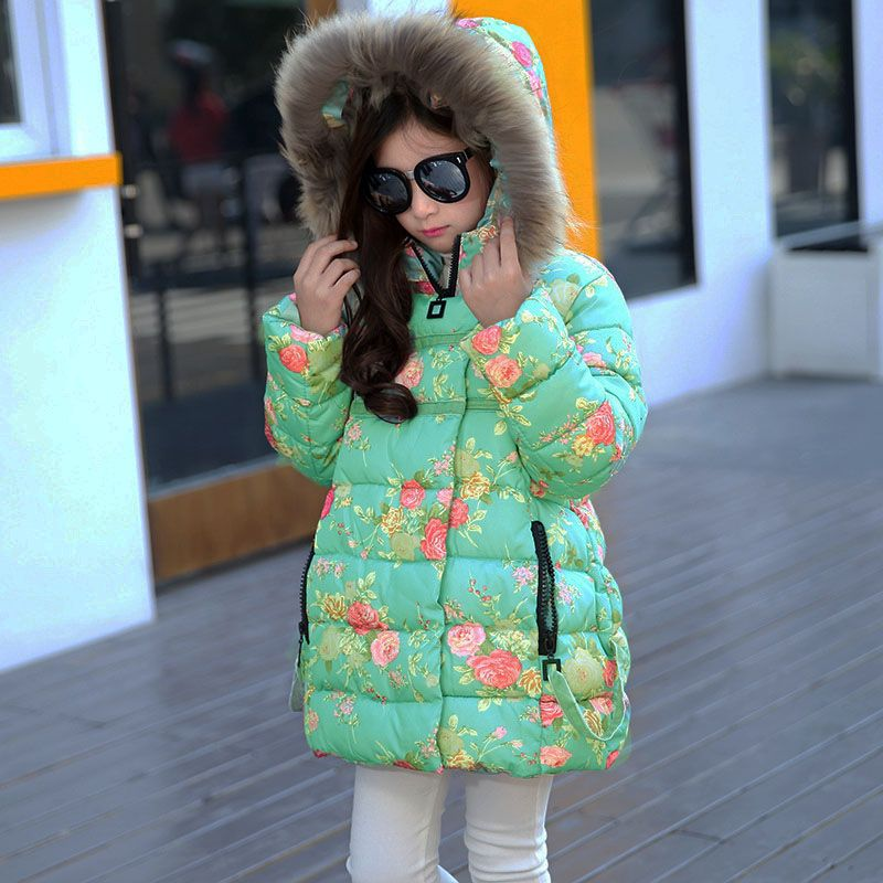 Thumbaby Winter New Jacket Down Coat Baby Girls Clothing Fashion