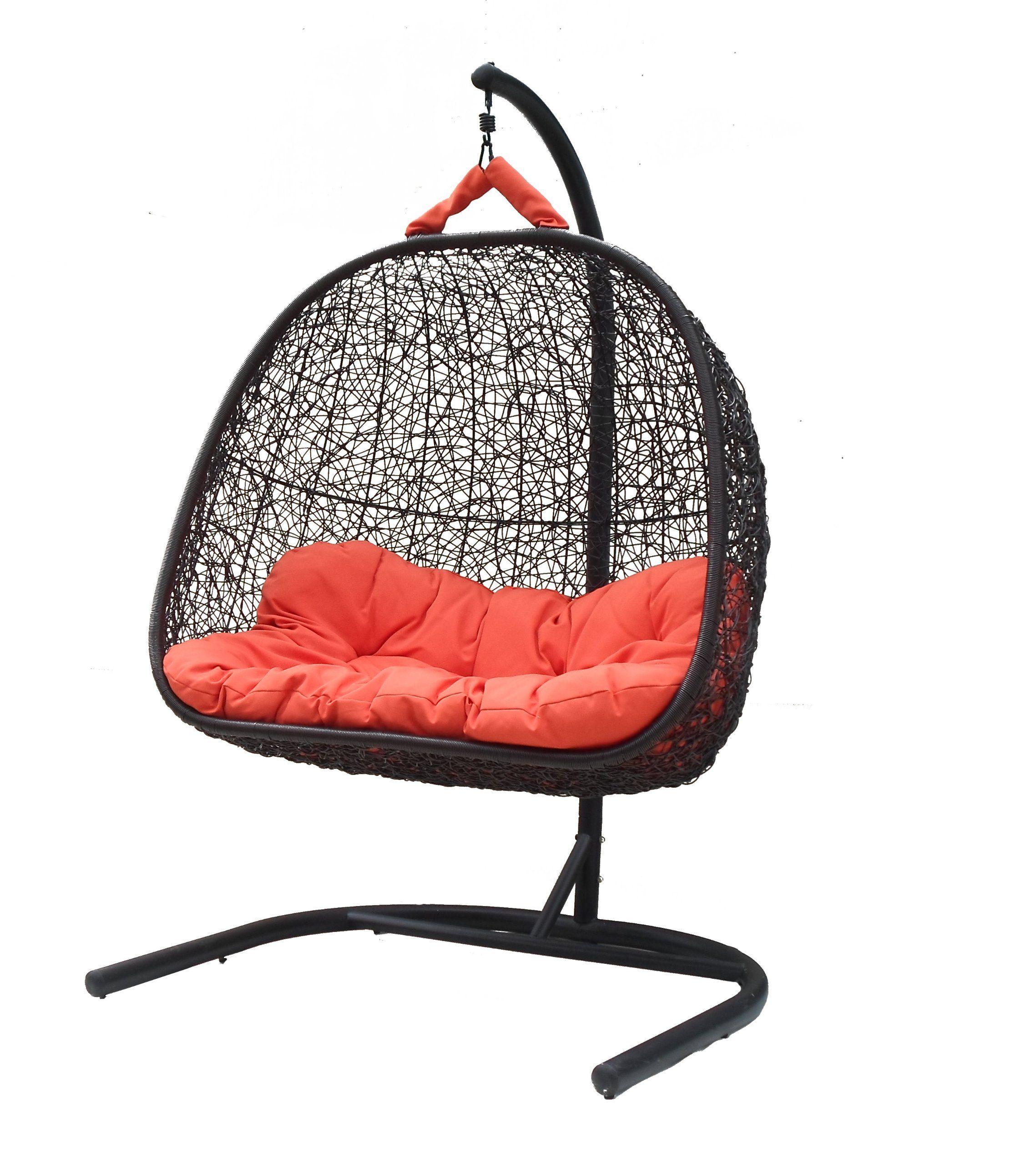 corina dual sitting outdoor wicker swing chair great hammocks