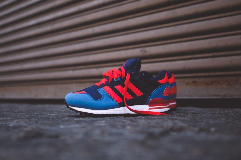 Adidas zx700 Navy / rojo / azul de los zapatos, los it ` s